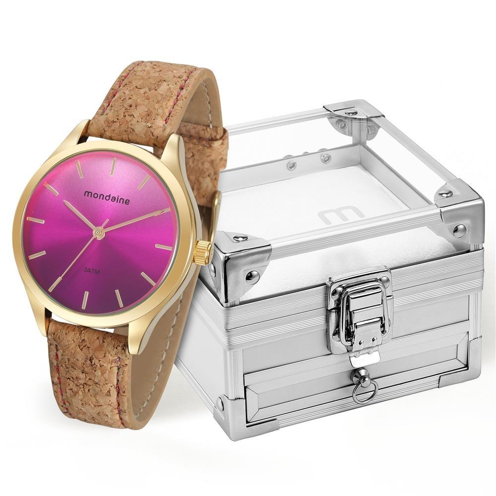 e94e0bb5d5a Relógio Feminino Analógico Mondaine 76641lpmvdh2k5 Marrom - R  129 ...