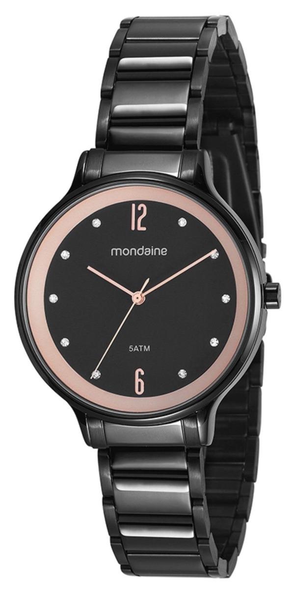 77feae53430 Relógio Feminino Mondaine 53626lpmvpe1 38mm Aço Preto - R  197