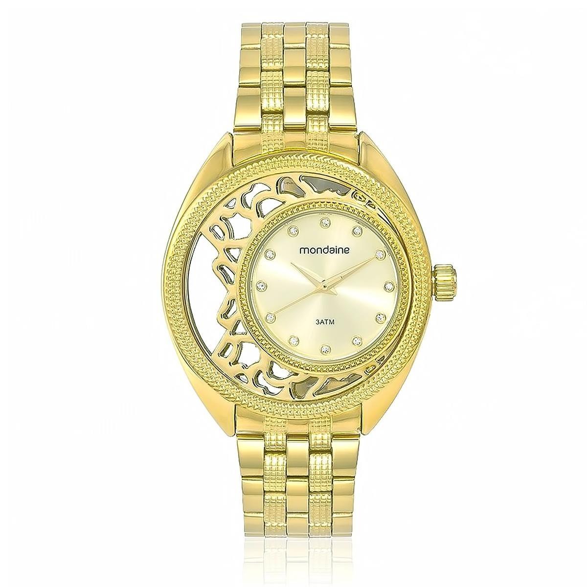 cfe4730b264 relógio feminino mondaine analógico 94697lpmvde1 dourado. Carregando zoom.
