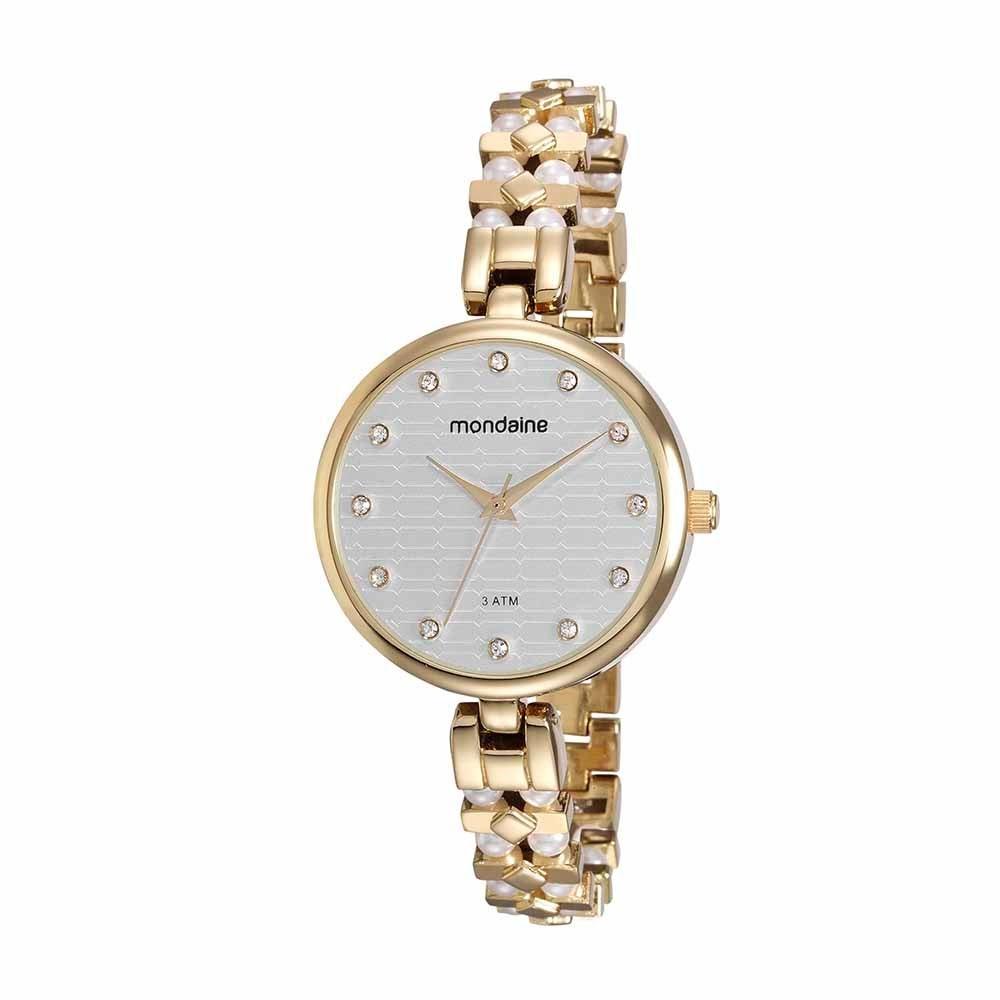 fa73d731fd8 relógio feminino mondaine dourado 76595lpmvdm1. Carregando zoom.