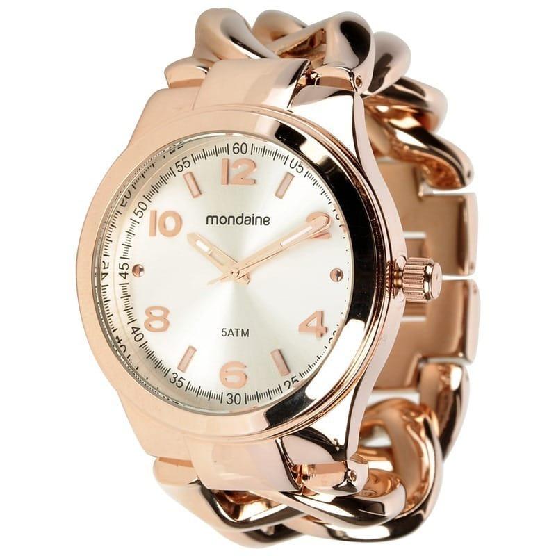 852ea0a35c6 relógio feminino mondaine dourado pulseira elos 94486lpmfrs2. Carregando  zoom.