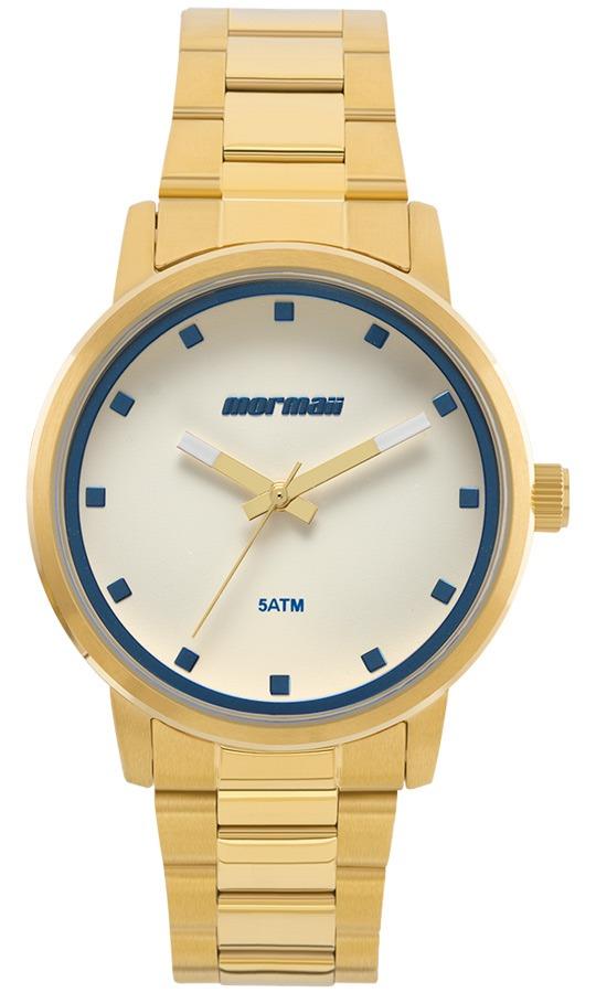 b5a7e3cb57f Relógio Feminino Mormaii Analógico Mo2035ja 4a Ouro - R  320