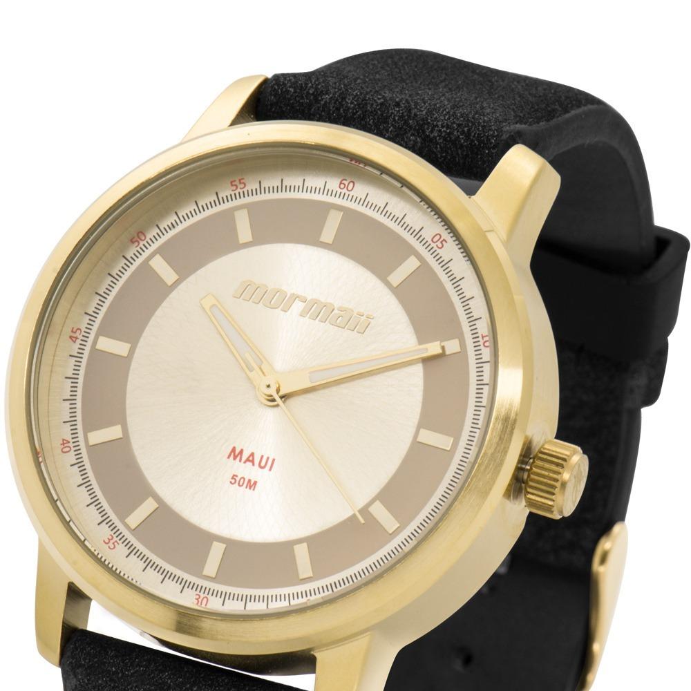 Kit Relógio Feminino Mormaii Preto Dourado + Mochila Vintage - R ... 803845dcf6