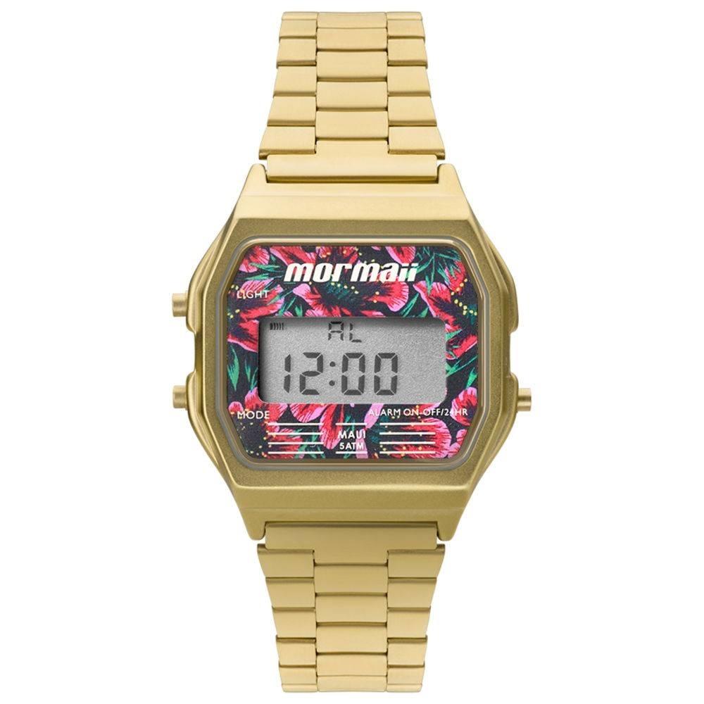 3fbfd278e50 relógio feminino mormaii vintage digital mojh02ad 4d dourado. Carregando  zoom.