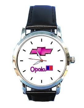 relógio feminino opala chevrolet logo rosa caravan gm couro