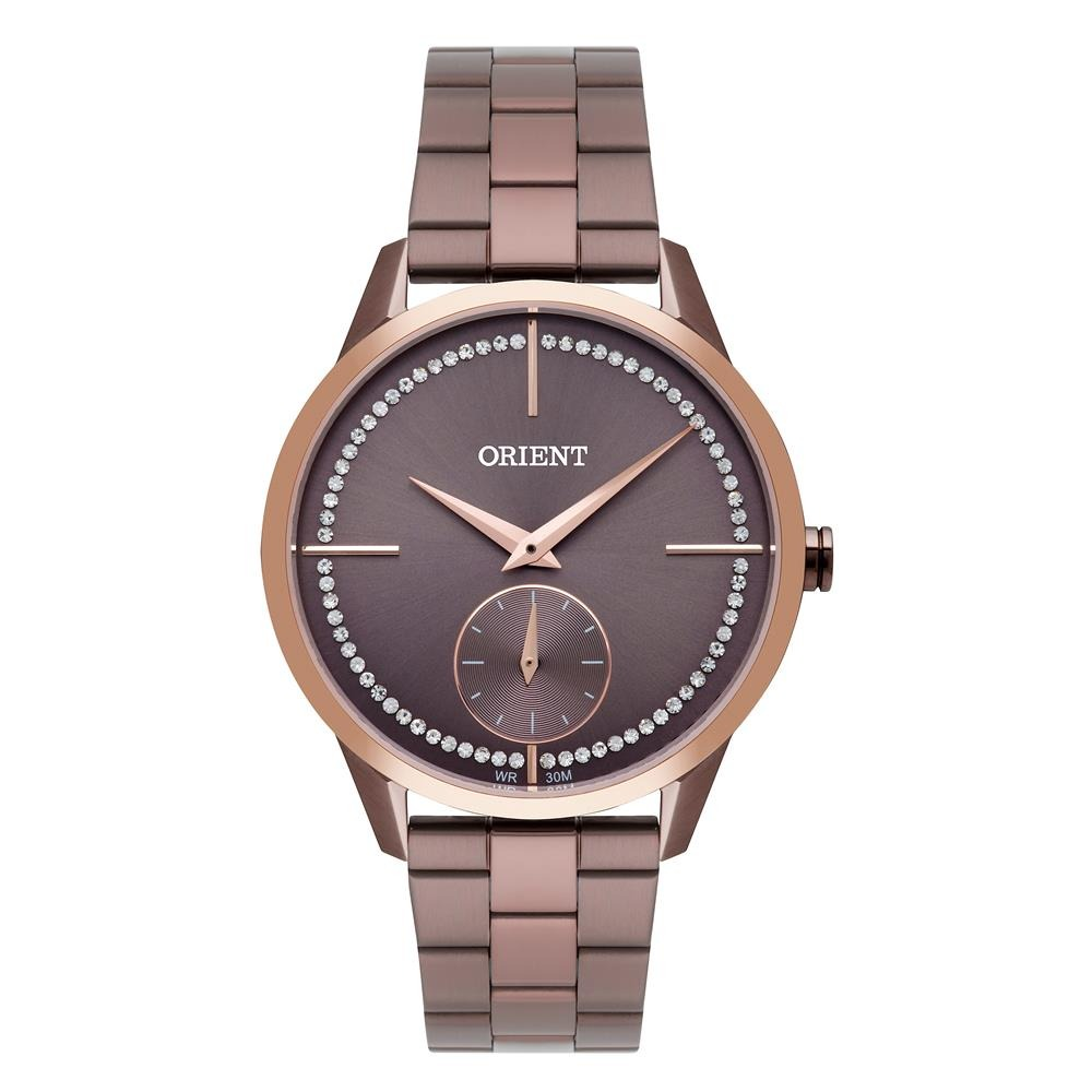 a7328e51264 Relógio Feminino Analógico Orient Ftss0061-n1nx - Marrom - R  385