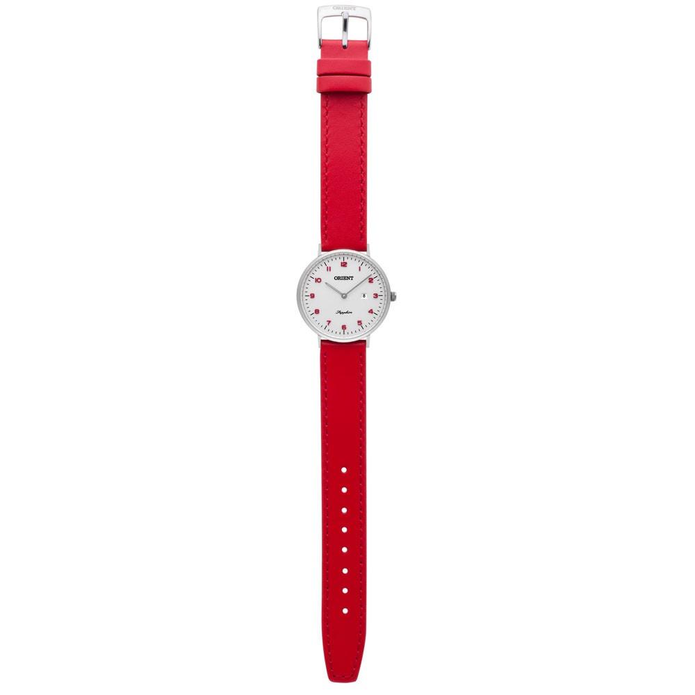 9ad243af1f1 relogio feminino slim pulseira de couro vermelha orient. Carregando zoom... relogio  feminino orient. Carregando zoom.