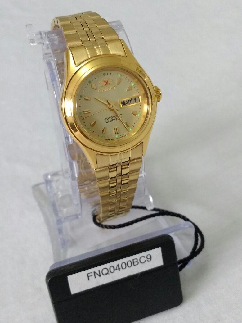 relógio feminino dourado orient automático fnq0400bc9. Carregando zoom... relógio  feminino orient. Carregando zoom. 858b0ac550