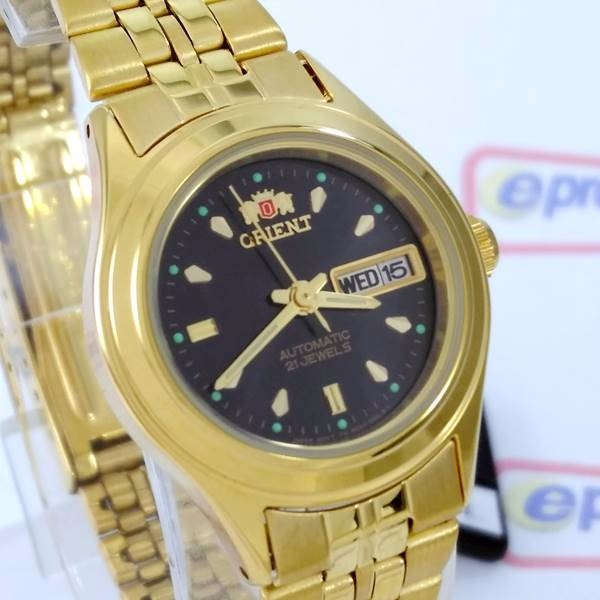 Relógio Feminino Orient Automatico Dourado Mini Fnq0400bb9 - R  389 ... 5050e54aa4