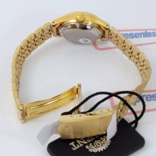 90f894c165d Relógio Feminino Orient Automatico Dourado Mini Fnq0400fw9 - R  499 ...
