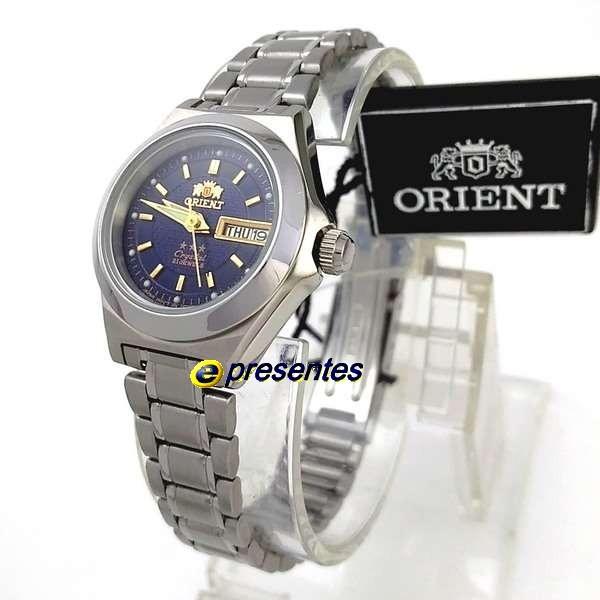 a1830d7564d Relógio Feminino Orient Automático Inox Azul Marinho 25mm - R  399 ...