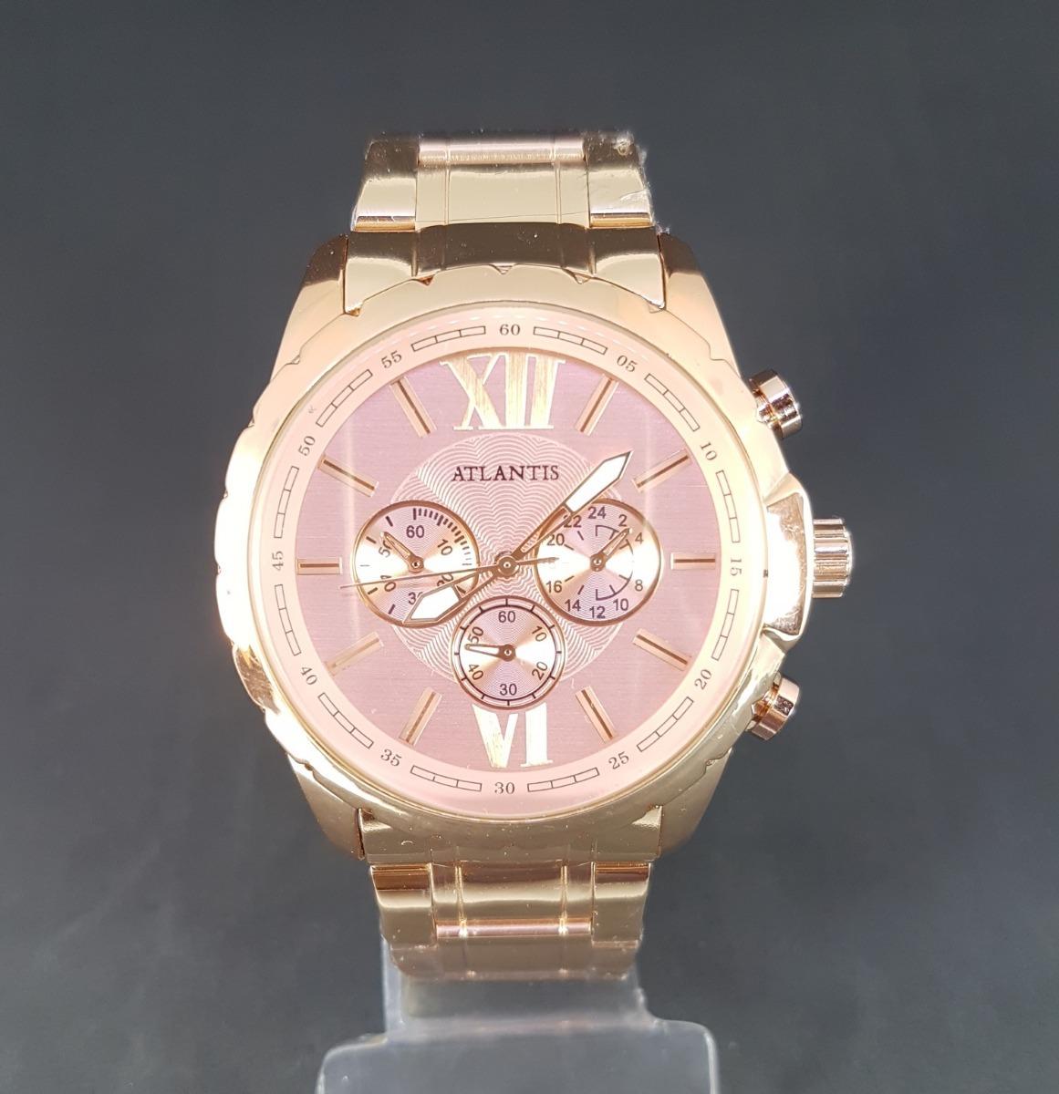 5d8a54159fe relógio feminino original atlantis dourado delicado promoção. Carregando  zoom.