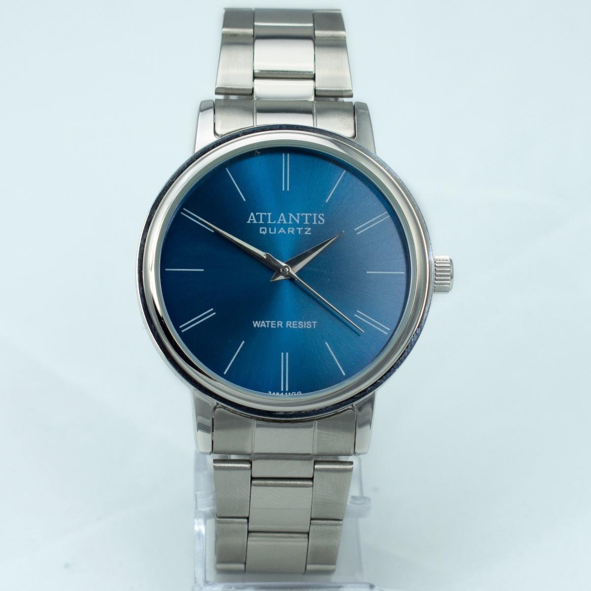 0b165733b4c Relógio Feminino Original Atlantis Dourado Preto + Caixa - R  59