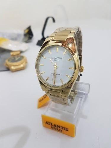 relógio feminino original atlantis gold - fundo branco