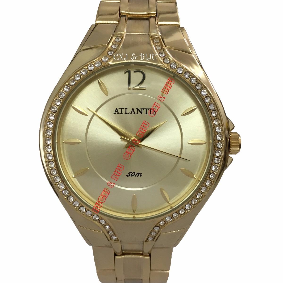 a497fccf134 relógio feminino original atlantis prateado frete grátis. Carregando zoom.