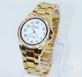 0c88fb6a1 Relógio Feminino Euro Original Folheado A Ouro Dourado - Joias e ...