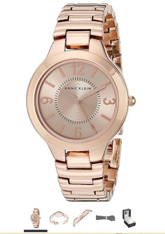 d1b889ef3a4 Relógio Feminino Ouro Rosa Anne Klein Ak 1450rgrg - R  499