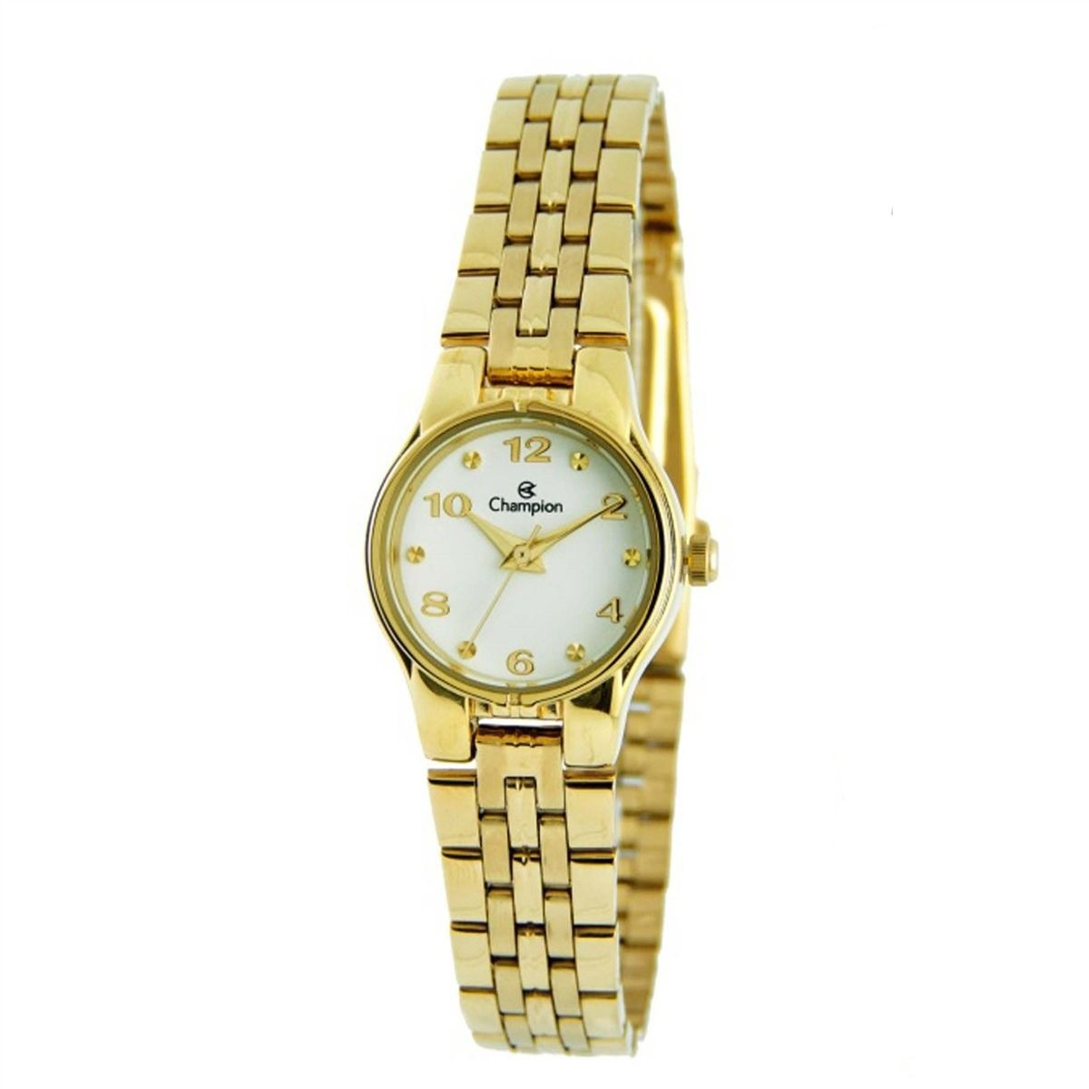 69bb895edc1 relógio feminino pequeno champion dourado ch25141h. Carregando zoom.