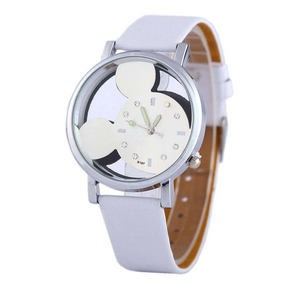 0b40d58aa34 relógio feminino prata branco mickey mouse desenho disney. Carregando zoom.
