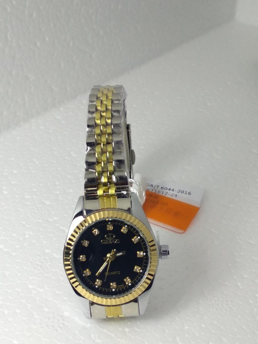ac7896de8db relógio feminino prata fundo preto chenxi lindo. Carregando zoom.