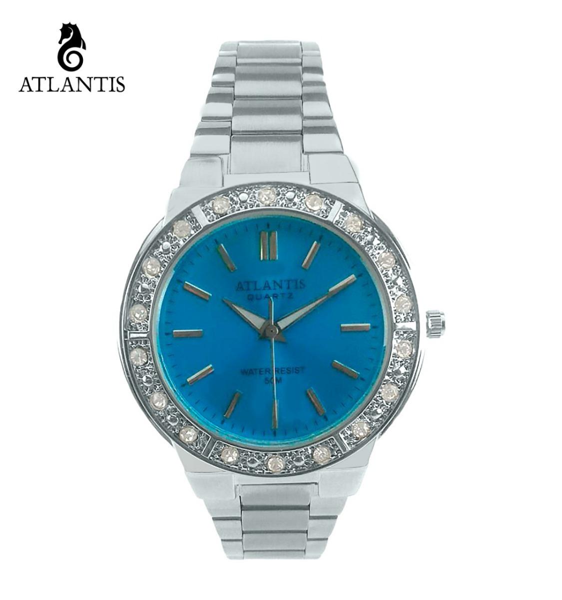 1efd5c79a7d relógio feminino prateado luxo de pulso bom e muito barato. Carregando zoom.