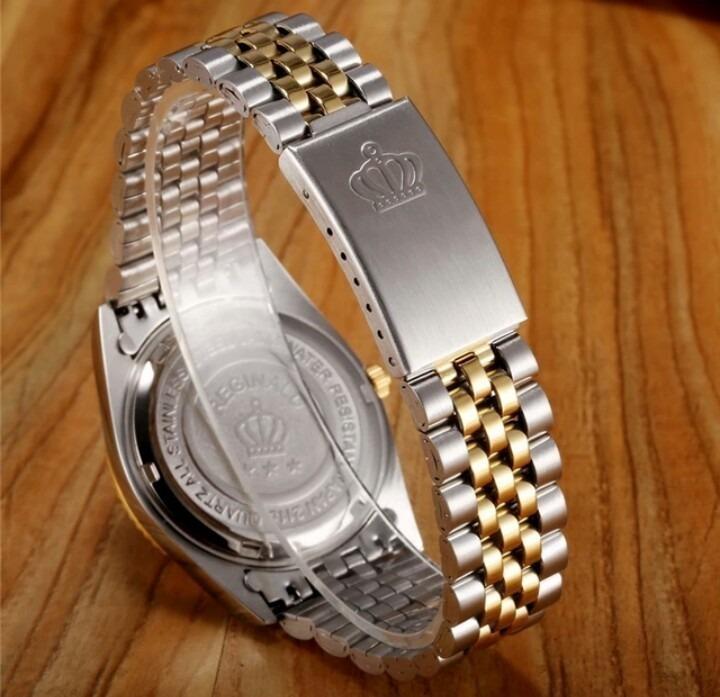 88ee61d5f20 Relógio Feminino Prateado Reginaldo Quartzo Clássico De Luxo - R ...