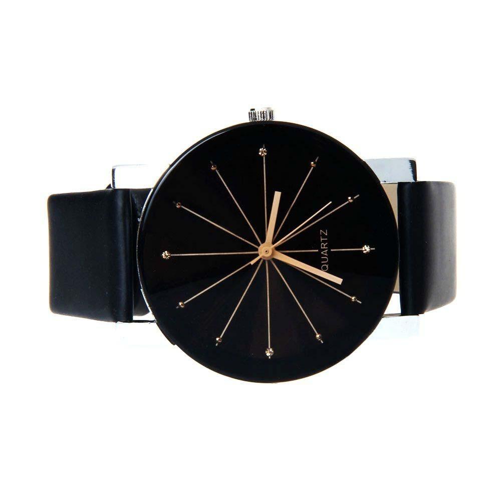 b6792157ddd relógio feminino preto couro casual barato promoção top. Carregando zoom.