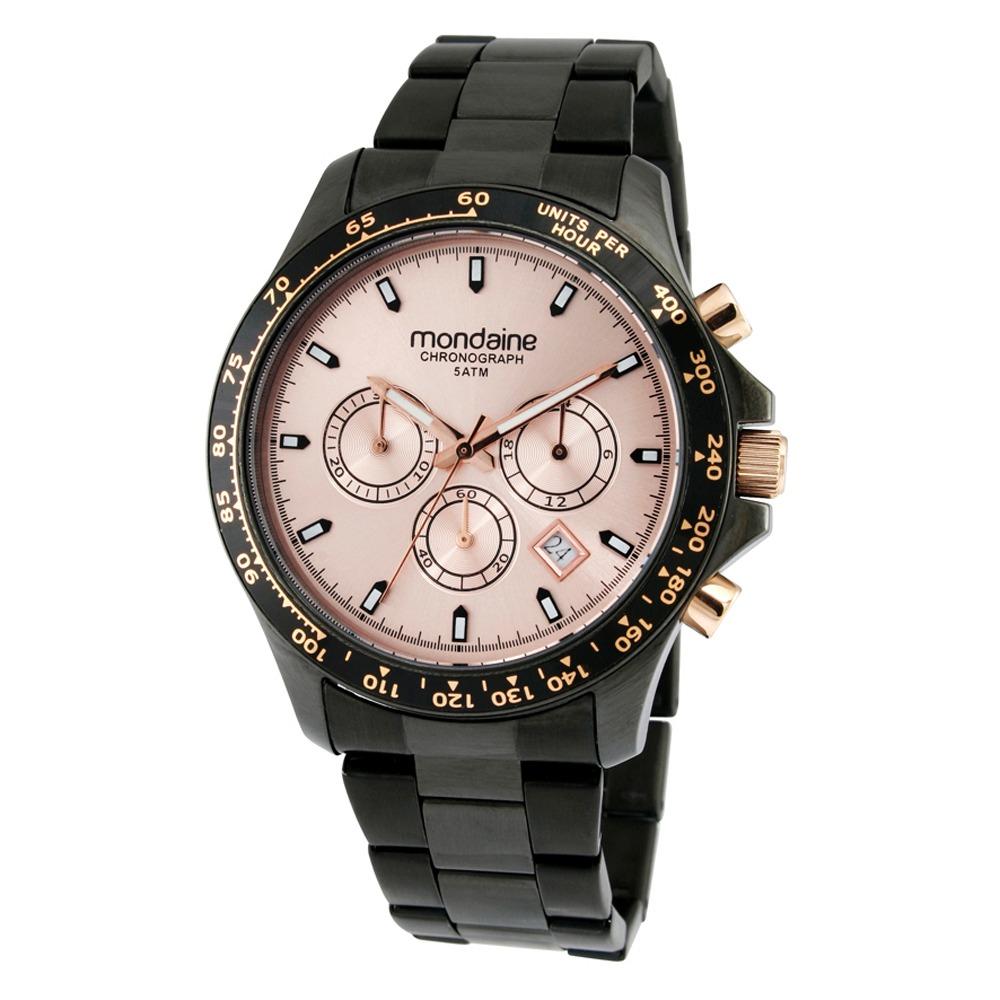3261e9d82b2 relógio feminino preto mondaine chronograph sport glamour. Carregando zoom.