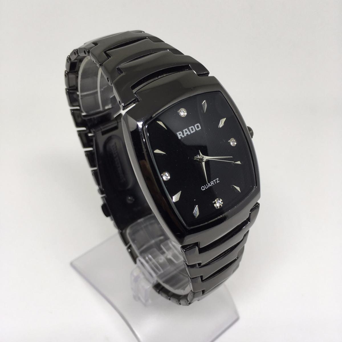 21835fc7ae1 relógio feminino preto quadrado super luxo lindíssimo. Carregando zoom.