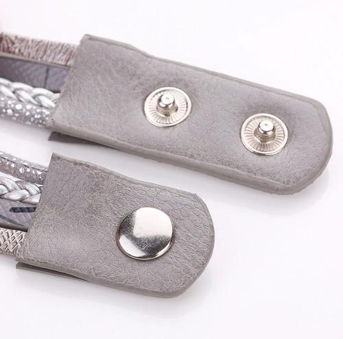 relógio feminino pulseira 3 cristais moda barato - promoção