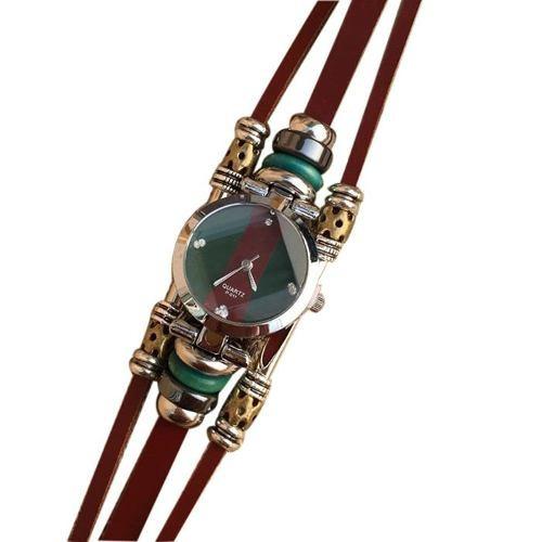 relogio feminino pulseira couro pedras 2017 luxo bd1107