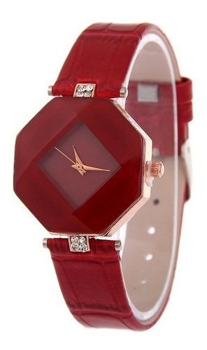 relógio feminino pulseira couro várias cores liquidação novo
