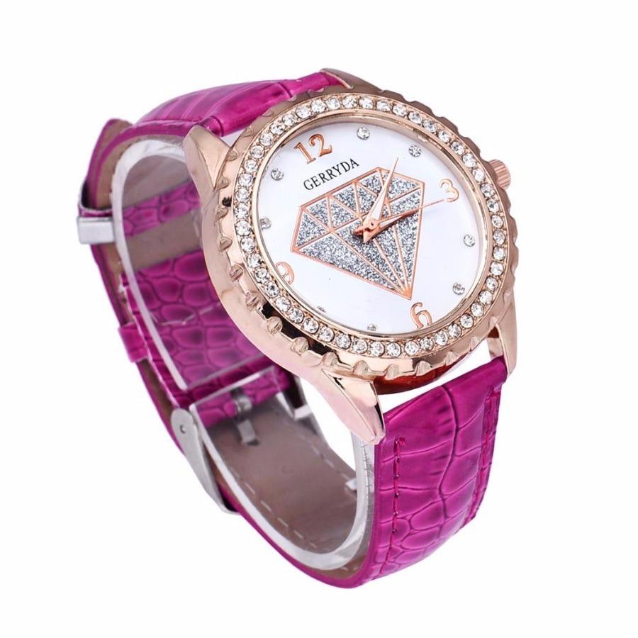 3e116d52954 relógio feminino pulseira de couro lindo barato. Carregando zoom.