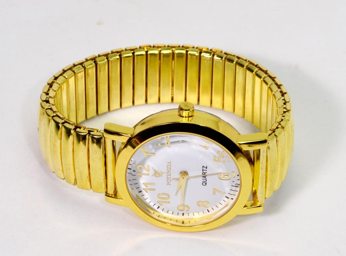 e5bf183918a relógio feminino pulseira dourada elástica social barato. Carregando zoom.