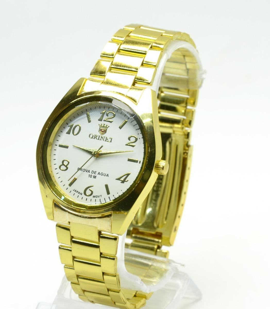 57a884c3195 relógio feminino pulseira dourada lindo barato. Carregando zoom.