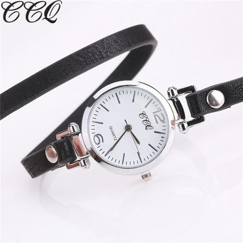 relógio feminino pulseira em couro