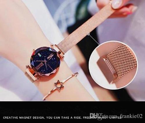 relogio feminino pulseira magnetica lançamento 2019