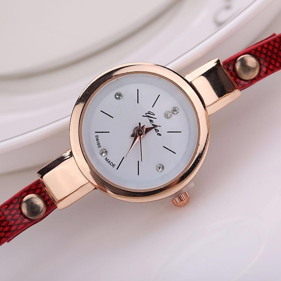 cd157415009 Relógio Feminino Pulso Cristal Quartzo Analógico - Branco - R  55