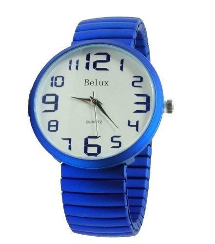 8834f1e6109 relogio feminino belux de pulso quartz original azul oferta. Carregando  zoom... relogio feminino pulso
