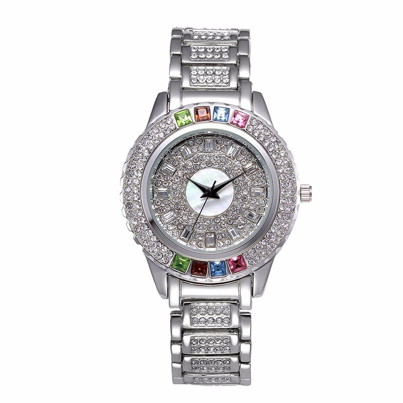 43f1d700c68 Carregando zoom... feminino pulso relógio. Carregando zoom... relógio  feminino pulso comprar quartz prata cristais barato