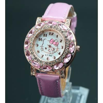 2eb638693e1 Relógio Feminino Pulso Hello Kitty Infantil Adulto Strass - R  39