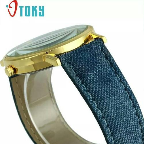 relógio feminino pulso moda social estilo jeans luxo barato
