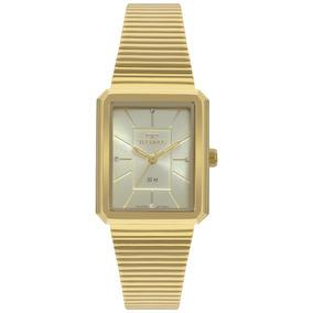 5f6d5c147 Relogio Feminino Technos Dourado Quadrado Unissex - Relógios De ...