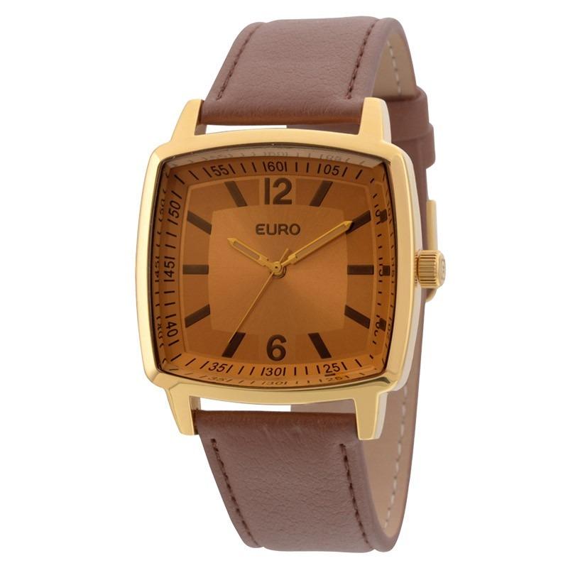 f5c922beaa7 relógio feminino quadrado pulseira couro euro eu2035xzq 2d. Carregando zoom.