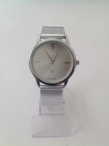 relógio feminino quartz prata de pulso