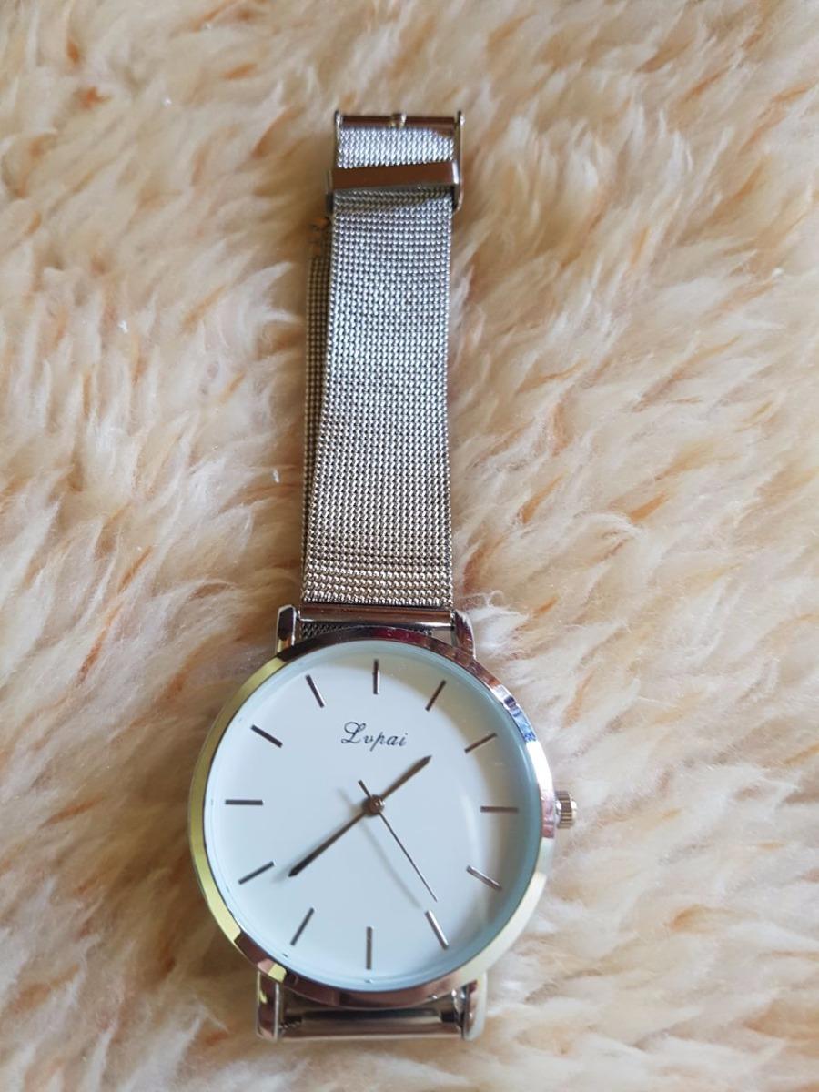6e3942420e9 relógio feminino quartz pulseira em malha de aço promoção. Carregando zoom.