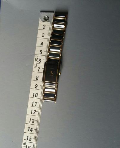 relógio feminino rado cerâmica, quartzo banho ouro autentico