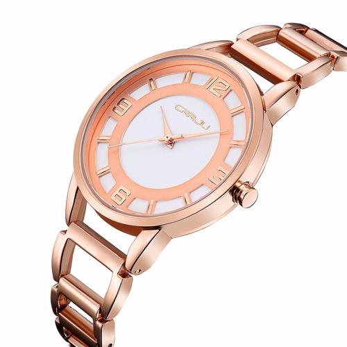 2215e4ef7d2 Relogio Feminino   Lindo Relogio Casual Dourado Rosé - R  76