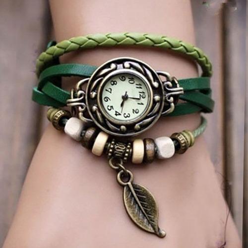 relógio feminino retrô hippie lindo pulseira frete grátis