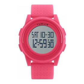 Relógio Feminino Rosa Sport Tuguir Digital Barato + Nf 150